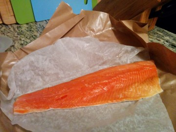 Fresh, wild, sockeye salmon
